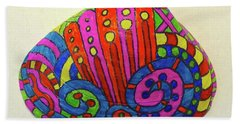 Wave Sharpie Shell Hand Towel