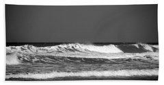 Waves 2 In Bw Hand Towel