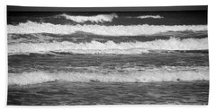 Waves 3 In Bw Hand Towel