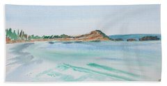 Waves Arriving Ashore In A Tasmanian East Coast Bay Hand Towel