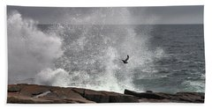 Waves Crashing  Hand Towel