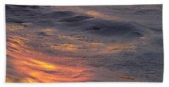 Waves Dawn Reflections Bath Towel