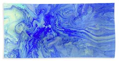 Waves Of Blue Bath Towel by Desiree Paquette