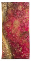 Waves Of Circles On Fuchsia Bath Towel