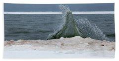 Waves Of Lake Michigan Hand Towel