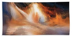 Waves Of Light Bath Towel