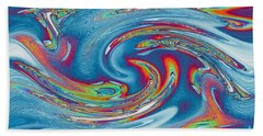 Waves Of Rainbow Hand Towel