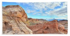 Waves Of Sandstone In Valley Of Fire Bath Towel by Ray Mathis