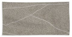 Waves Of Time In The Sand Bath Towel