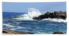Waves  On Rocks Bath Towel