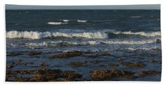 Waves Rolling Ashore Hand Towel