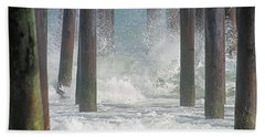 Waves Under The Pier Bath Towel