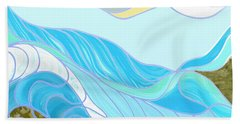 Waves Hand Towel