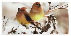 Waxwing Refuge  Bath Towel