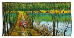 Crossing The Canal Hand Towel