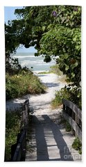 Way To The Beach Hand Towel by Christiane Schulze Art And Photography