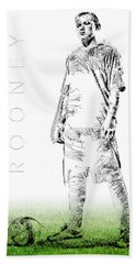 Wayne Rooney Hand Towel by ISAW Gallery