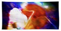 Wayne Shorter   Digital Watercolor Paintings Bath Towel