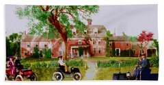 Wayside Inn With Autos Hand Towel