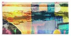 Wayzata Boats Abstract Bath Towel