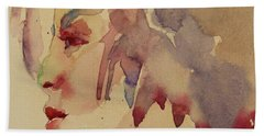 Bath Towel featuring the painting Wcp 1702 A Dancing Fool by Becky Kim