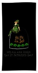 Bath Towel featuring the digital art We All Irish This Beautiful Day by Asok Mukhopadhyay