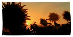 Hand Towel featuring the photograph We Are Sunflowers by Chris Berry