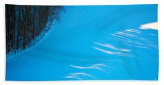 Bath Towel featuring the photograph We Got The Blues - Winter In Switzerland by Susanne Van Hulst