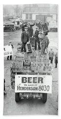 We Have Beer - Prohibition Ends - Cleveland 1933 Hand Towel