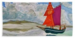 Bath Towel featuring the painting We Sailed Upon A Sea Of Glass by Rand Swift