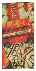 Weathered Bus Routes Hand Towel