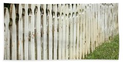 Weathered Fence Bath Towel