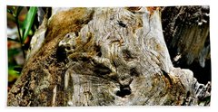 Weathered Wood Hand Towel by Debbie Portwood