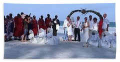 Wedding Complete Panoramic Kenya Beach Hand Towel by Exploramum Exploramum