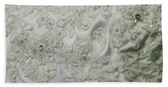 Wedding Dress Floral Beadwork Hand Towel