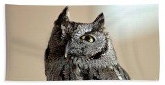 Wee Western Screech Owl Bath Towel