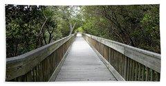 Weedon Island Boardwalk  Hand Towel by Chris Mercer