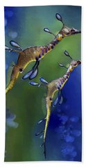 Weedy Sea Dragon Hand Towel by Thanh Thuy Nguyen