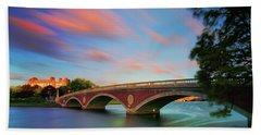Weeks' Bridge Hand Towel by Rick Berk