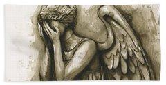 Weeping Angel Bath Towel