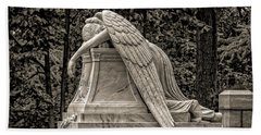 Weeping Angel - Sepia Bath Towel
