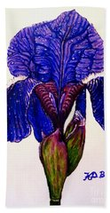 Weeping Iris Bath Towel by Kimberlee Baxter