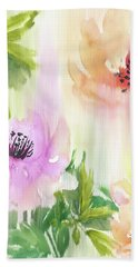 Hand Towel featuring the painting Weeping Rose Forest by Colleen Taylor