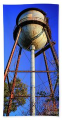 Hand Towel featuring the photograph Weighty Water Cotton Mill  Water Tower Art by Reid Callaway