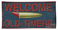 Welcome Fishing Sign Bath Towel