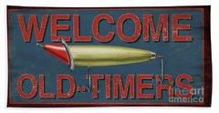 Welcome Fishing Sign Bath Towel