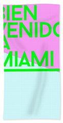 welcome to Miami Hand Towel by Cortney Herron