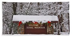 Welcome To Signal Mountain Hand Towel