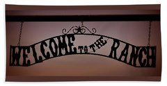 Welcome To The Ranch Hand Towel by Nadalyn Larsen
