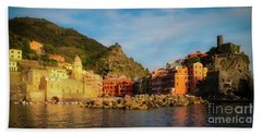 Welcome To Vernazza Hand Towel